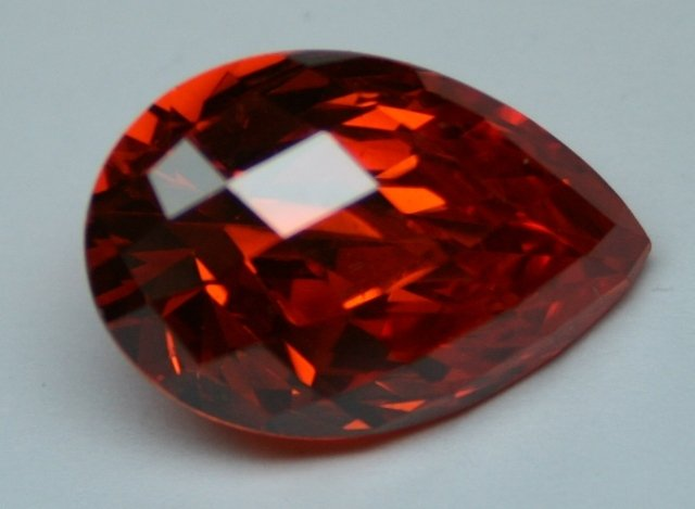 Synthetic Ruby - Corundum Irregular - red #8