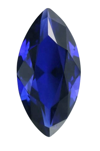 Synthetic Sapphire - Corundum Marquise - Blue #35 (MS)