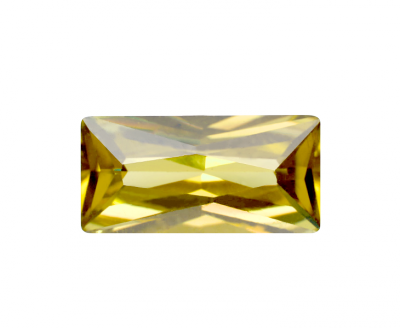 Cubic Zirconia - Rectangle - Yellow (BPC)