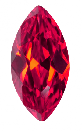 Synthetic Ruby - Corundum Marquise - red #5 (MS)