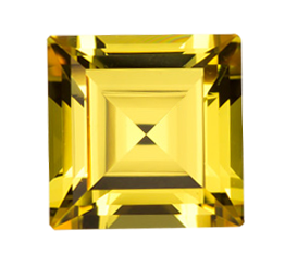 Cubic Zirconia - Square - Yellow (SQ)