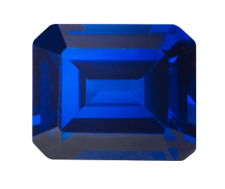 Synthetic Sapphire - Corundum Rectangle - Blue #35 (ES)