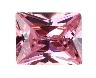 Cubic Zirconia - Rectangle - Pink (RECTP)
