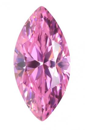 Cubic Zirconia - Marquise - Pink (MS)