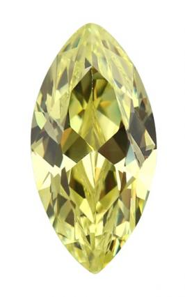 Cubic Zirconia - Marquise - Apple Green (MS)
