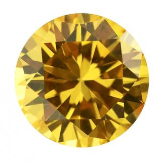 Cubic Zirconia - Round - Yellow (RS)