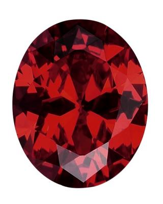 Synthetic Ruby - Corundum Oval - red #8 (OS)
